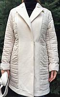 Пальто демисезонное с кашемировыми вставками, фото 1
