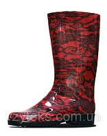 Сапоги женские силиконовые красные Литма