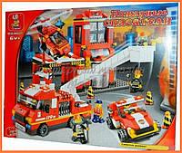 """Конструктор SLUBAN М38-В0227 """"Пожарные спасатели"""", 727 деталей"""