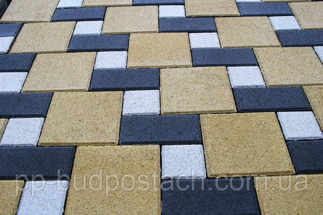 Тротуарна плитка Цегла квадрат великий (240х160) Золотий мандарин