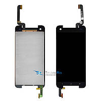 Модуль Дисплей HTC 901e Butterfly S, 901s с тачскрином, чёрный
