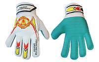 Перчатки вратарские детские MANCHESTER UNITED  р. 8 с защитными вставками на пальцах