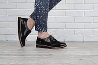 Туфли оксфорды женские Todzi черные на шнуровке, Черный, 41