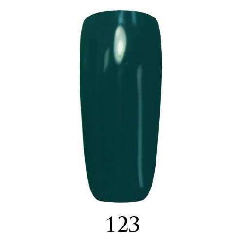 Гель лак Adore №123, глубокий сине-зеленый 9 мл