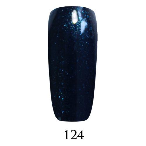 Гель лак Adore №124, темный сине-зеленый с шиммером 9 мл
