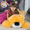 Большой мягкий плюшевые мишка Умка 110 см, карамельный, фото 3