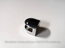 Полкодержатель хром для стеклянной полки толщиной 4-6 мм короткий