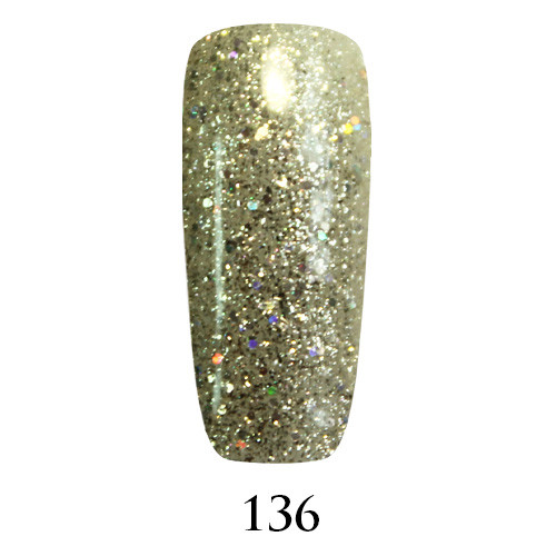 Гель лак Adore №136, белое золото  9 мл