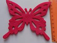 Высечка Бабочка красная ажурная 356