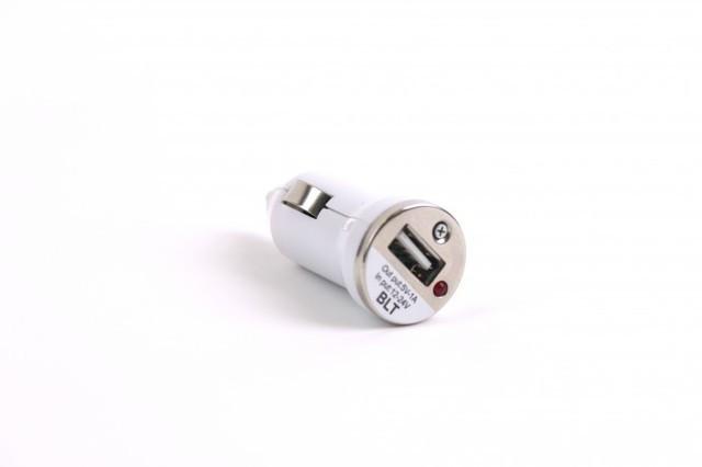 Автомобильная зарядка mini, 1 USB 500mAh