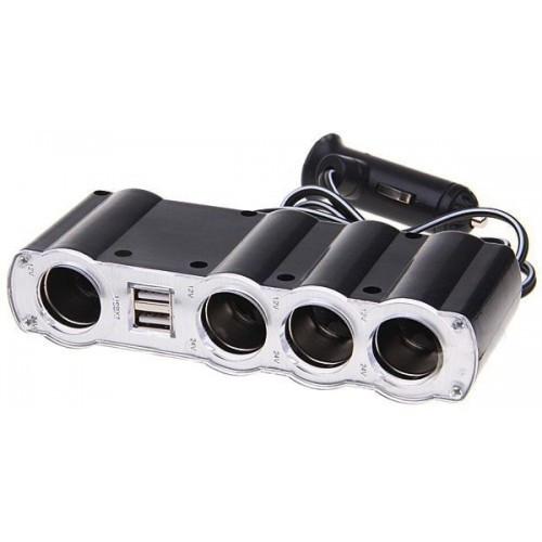 Разветвитель WF-4008 для прикуривателя с 2-мя USB-портами