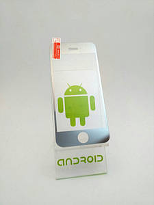 Стекло серебро на iPhone 5 + на заднюю крышку, закаленное для мобильного телефона.