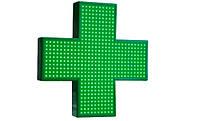 Аптечный крест светодиодный 1000*1000 зеленый