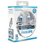 Галогенные лампы PHILIPS H4 WhiteVision 12V 60/55W 12342WHVSM