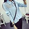 Женская рубашка из мягкого сатина с кружевом в расцветках. Ф-4-0317 , фото 3