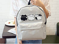 Женский светлый рюкзак Котики