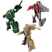 X-bot - РОБОТ-ТРАНСФОРМЕР (15 см), ТАНК (зеленый), САМОЛЕТ, ТАНК (бежевый) Игровой набор