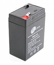 Аккумулятор для детских мотоциклов и электромобилей 6V вольт 4.5 ah ампер, фото 3