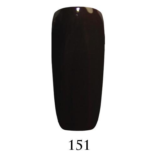 Гель лак Adore №151 ,очень темный коричневый  9 мл