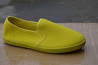 Женские слипоны желтые , фото 1