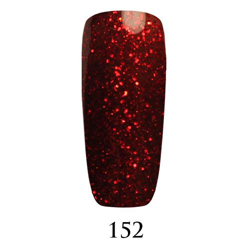 Гель лак Adore №152,темно-красные блестки на полупрозрачном фоне 9 мл