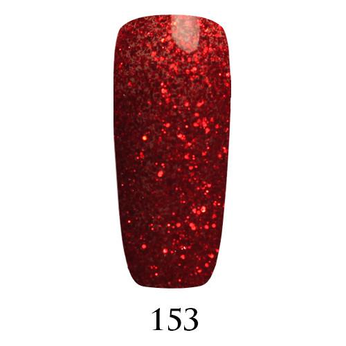 Гель лак Adore №153 , красные блестки на прозрачном фоне  9 мл