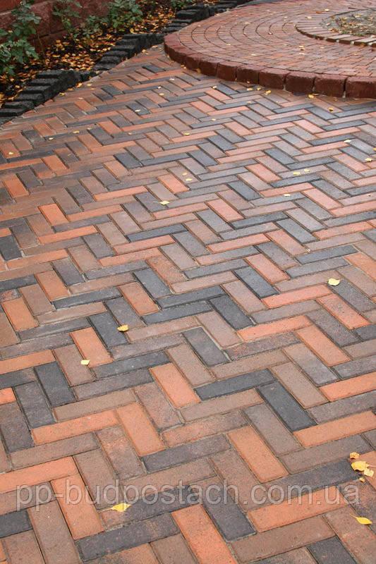 Тротуарна плитка цегла вузька Золотий мандарин