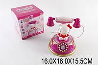 Музыкальный телефон  Hello Kitty , на батарейках, светится, со звуком, HM557-32