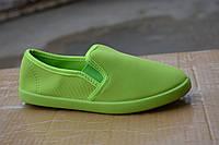 Женские слипоны зеленые