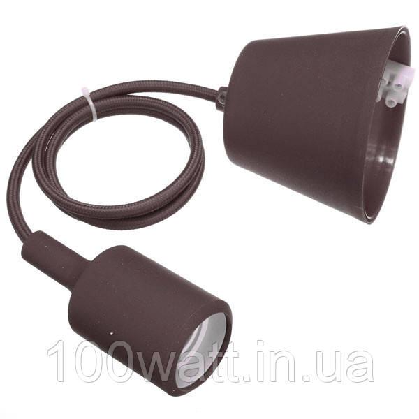 Патрон  подвесной Е27 1м коричневый (WT255) ST 542