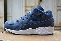 Кроссовки Nike Air Huarache синие, копия
