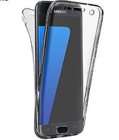 Силиконовый прозрачный двухсторонний чехол для Samsung S7 Edge