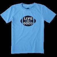 Детская футболка для мальчиков Life Is Good Boys Football Tee