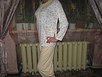 Пижама женская розовый принт 100% хлопок размеры L, XL и XXXL