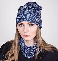 Комплект из шапки и хомута для женщин весна 2017- Артикул 2037