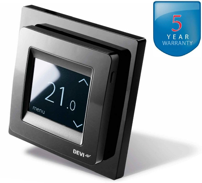 DEVIreg Touch Black - терморегулятор з сенсорним дисплеєм і інтелектуальним таймером (колір чорний)