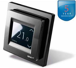 DEVIreg Touch Black - терморегулятор с сенсорным дисплеем и интеллектуальным таймером (цвет черный)