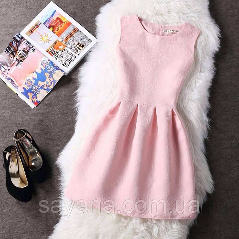 Женское жаккардовое платье, 2 цвета. Ф-5-0317