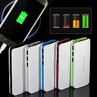 Внешний аккумулятор Павербанк Power Bank, 3 USB, фонарик 20000 мА*ч