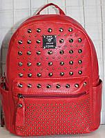 Ранец Рюкзак Стильный Гладкая Искусственная Экко-кожа  с камнями  K 17-502-6