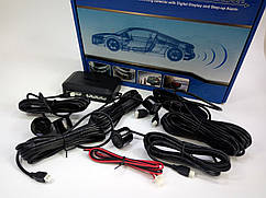 Автомобильный парковочный радар (парктроник) 4 сенсора LED дисплей!!!