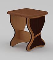 Кухонный табурет от мебельной фабрики Компанит, с элегантными фигурными накладками. Модель Т-3