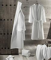 Вафельный халат мужской