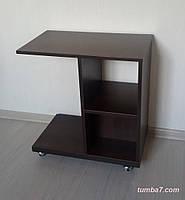 Тумбочка столик на роликах, Венге