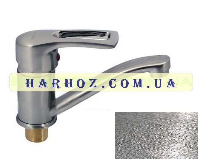 Смеситель для кухни Haiba (Хайба) Hansberg stainless steel 555 15 см