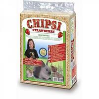 Cat's Best Chipsi Strawberry 60л*3,2кг -наполнитель древесный для грызунов
