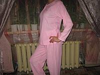 Пижама женская теплая розовая размер М (46)