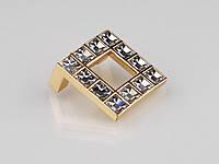 Ручка мебельная Giusti РГ 70/32 WPO550.032.KRG Золото/Прозрачные кристаллы Swarovski (9878)