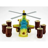 Коньячный набор Вертолет, 7 предметов