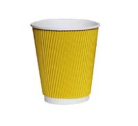 Стакан гофрированный 400 мл Желтый